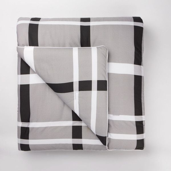 Lacoste Paris King Comforter Set ($350) ❤ liked on Polyvore featuring home, bed & bath, bedding, comforters, accessories, bedding bedding, plaid comforter, king bedding, plaid comforter set and oversized king comforter sets