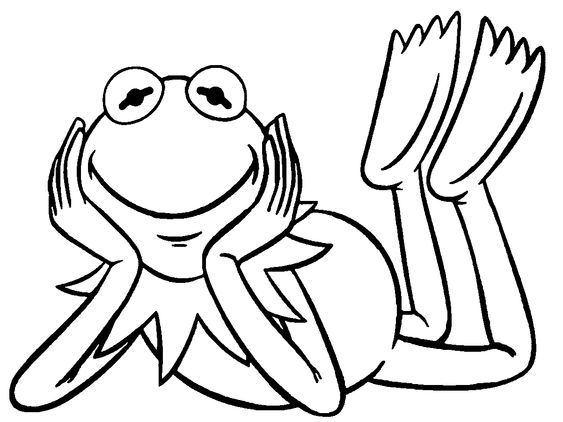 nice The Muppets Kermit The Frog Smile Coloring Pages | Coloring ...