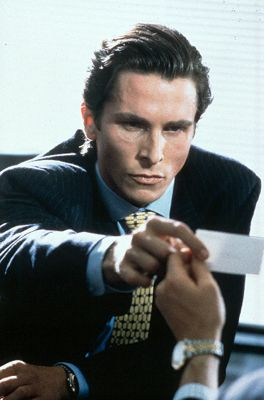 i'm into murders and executionsSubtle Off Whit, Business Cards, Americanpsycho, Christian Bale, Taste Thick, Off Whit Colors, Movie, American Psycho, Patricks Bateman