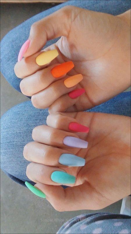 💅Idées de « Nail Art » pour l'été 🌼 Inspirations colorées no 804 …