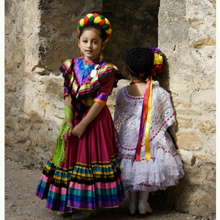 Cute Mexican girls dresses