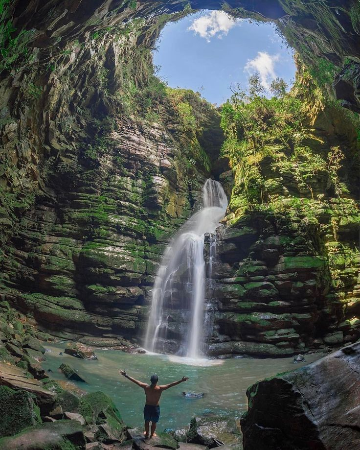 "7,009 Likes, 91 Comments - South America (@southamerica) on Instagram: ""Saudades Irmão! 🇧🇷 Location: @thiagomlcorrea chasing waterfalls at Buraco do Padre - Ponta Grossa,…"""