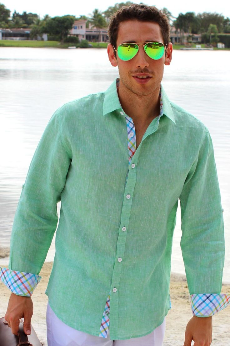 43 best Club Med images on Pinterest   Linen shirts, Casual shirts ...