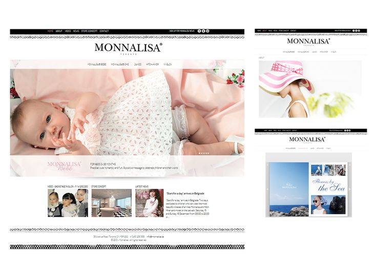 Monnalisa website design by Macroblu.