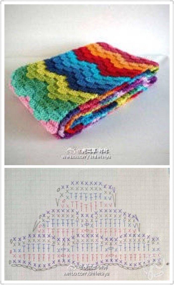 ripple crochet stitch instructions
