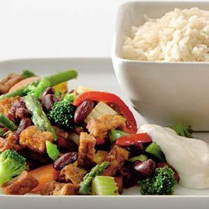 Recept - Mexicaanse tofu met groenten en rijst - Allerhande