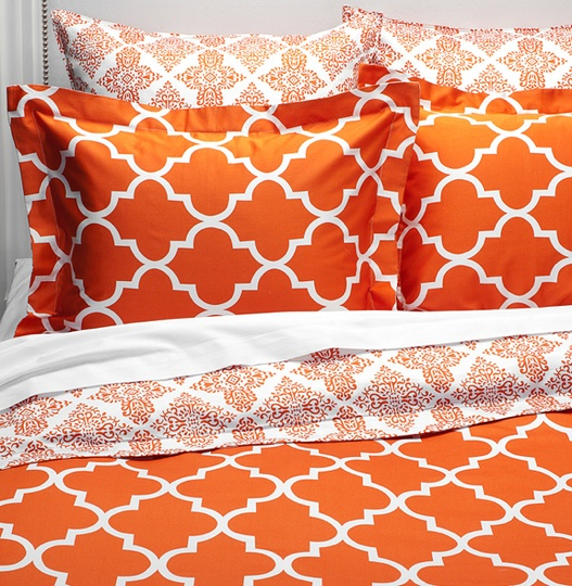 In love with this color.. Our new comforter is just like this but with a little bit of a different pattern. With dark furniture it really brightens the room!