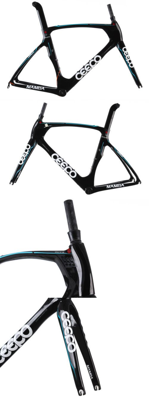 bicycle parts: 2014 Ceepo Mamba Road Triathalon Bike Frame Set 55.5Cm Large Carbon Aero Pf30 BUY IT NOW ONLY: $529.99