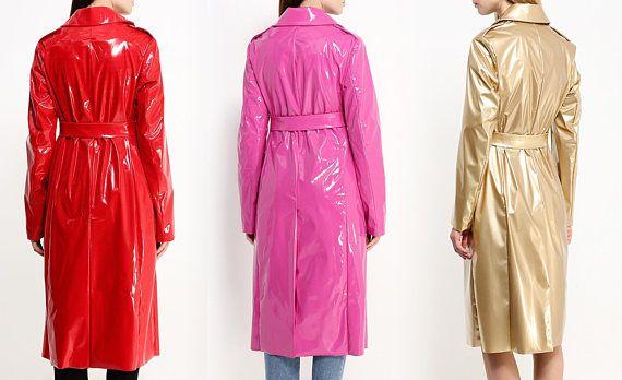 Pvc Vinyl Raincoat Red Black Pink White Gold Blue Tan Cargo Jacket Mens Leather Jacket Men Raincoats For Women