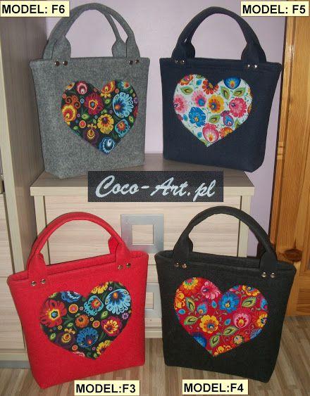 Zgrabne torebki do reki wykonane z filcu format A5 – Kolekcje – Google+