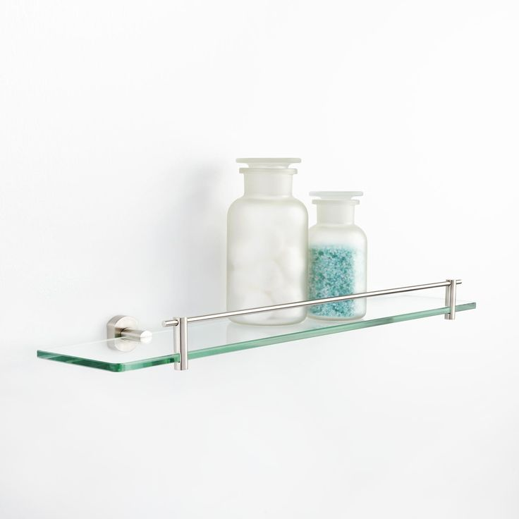 New Home  Bathroom  Bristow Curved Tempered Glass Shelf
