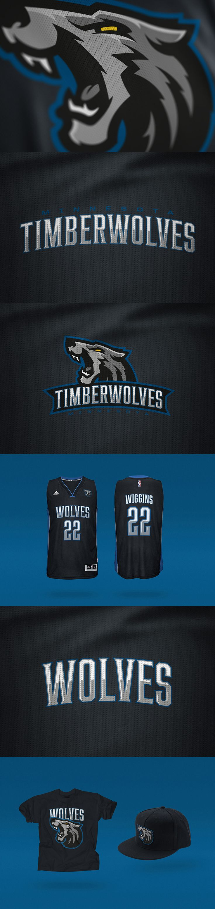 Minnesota Timberwolves Rebrand Concept by Miika Kumpulainen