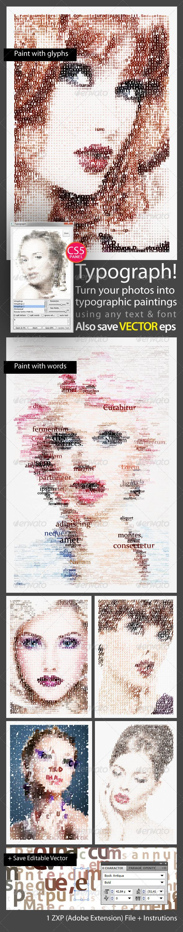 Typograph! #graphicriver Typograph! Is A An Easy To Install And Easy To  Use Photoshop Cs5photoshop Illustratorlightroomtypographic