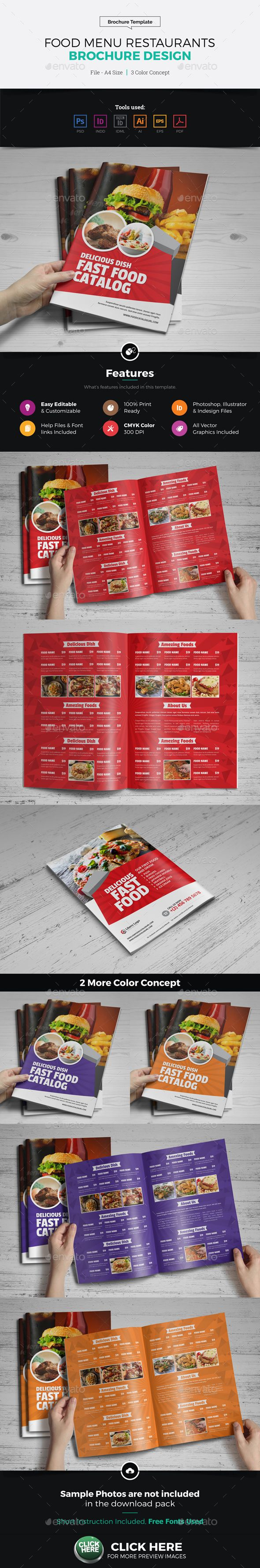 restaurant server cover letter%0A Food Menu Restaurants Brochure Design