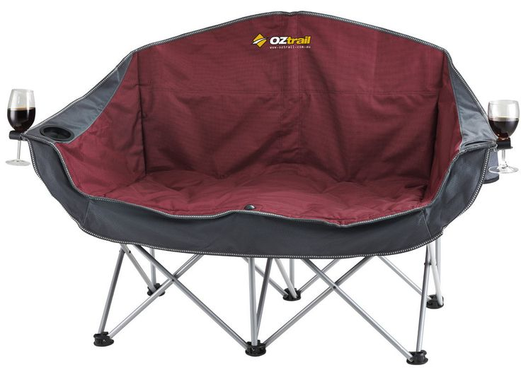 OZtrail Moon Chair Folding Portable Camping Picnic   Large   Available At  Camping Central Australia
