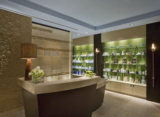 This Is A Beautiful Front Desk Area Apple Blossom Massage Reception Here Is Our Post About