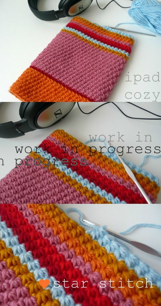 Loving the colors of this project. star stitch