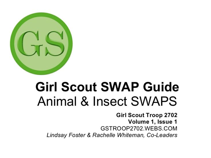 Girl Scout SWAPs Guide: Animal & Insect SWAPs