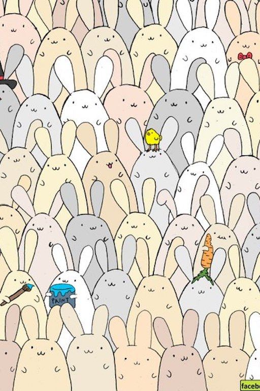 Can You Find the Egg in This Picture of Easter Bunnies?