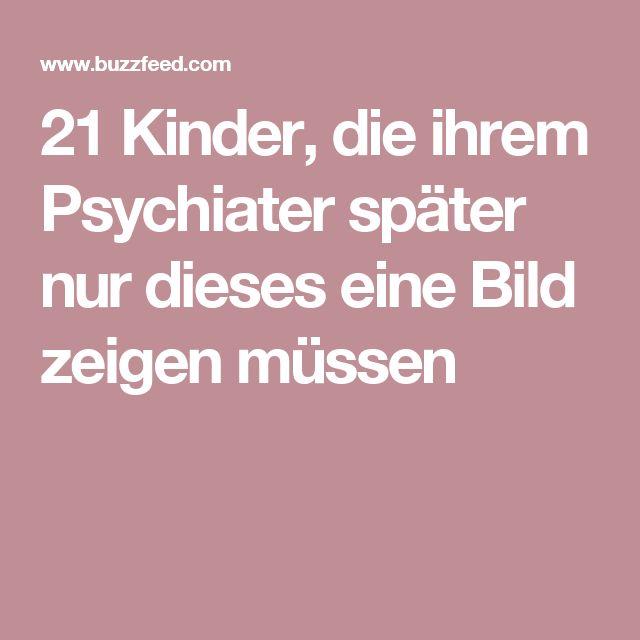21 Kinder, die ihrem Psychiater später nur dieses eine Bild zeigen müssen