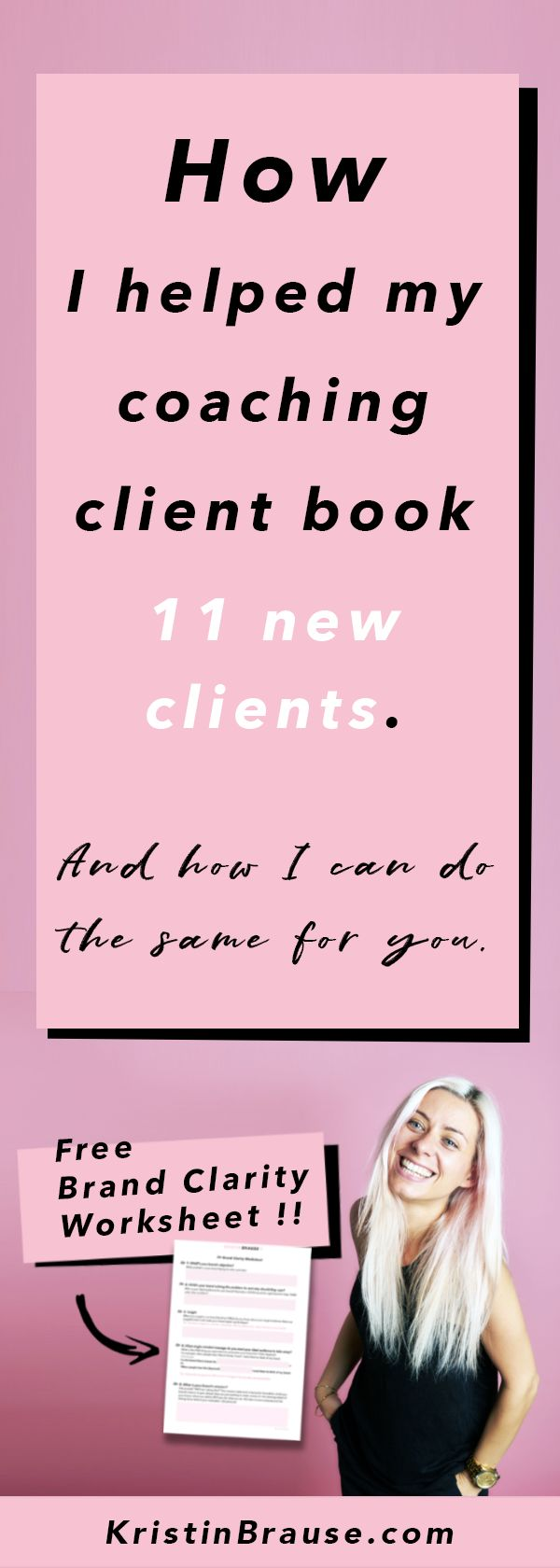 How I helped my coaching client book 11 new clients and how I can help you do the same for your brand. Download my free brand clarity worksheet to do the exact same exercise I did with my client.