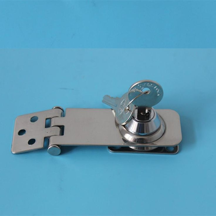 """A Pair 3""""Stainless Steel Security Hasp With Key Door Padlock Lock Shed Door Gate boat accessories marine"""