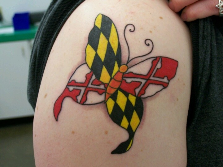 Maryland pride tattoos pinterest