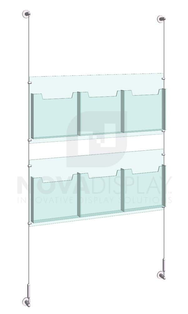 Cable Suspended Acrylic Literature Display Kit Kld 022 Display Clear Acrylic Design