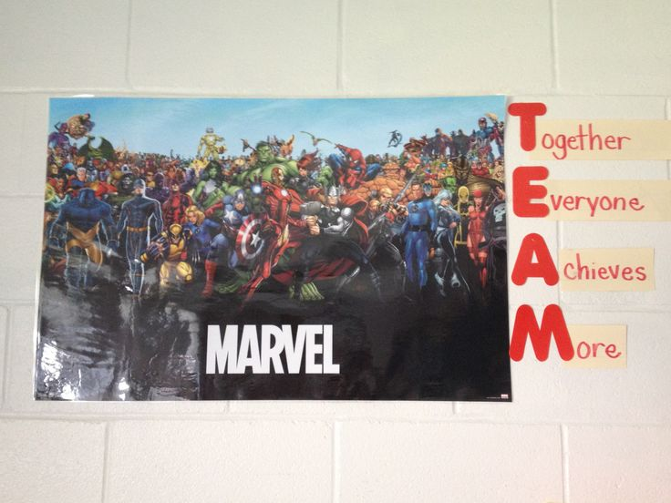 Teamwork superhero classroom theme.