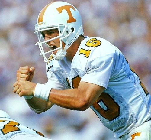 Peyton Manning was a fantastic quarterback with the Tennessee Volunteer football team.