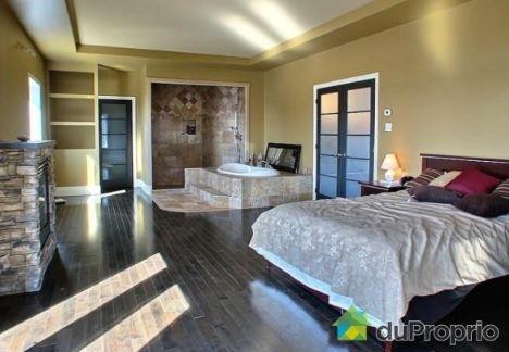 open concept master bedroom and bathroom in quebec 1125000 modern home designs pinterest - Bathrooms In Bedrooms