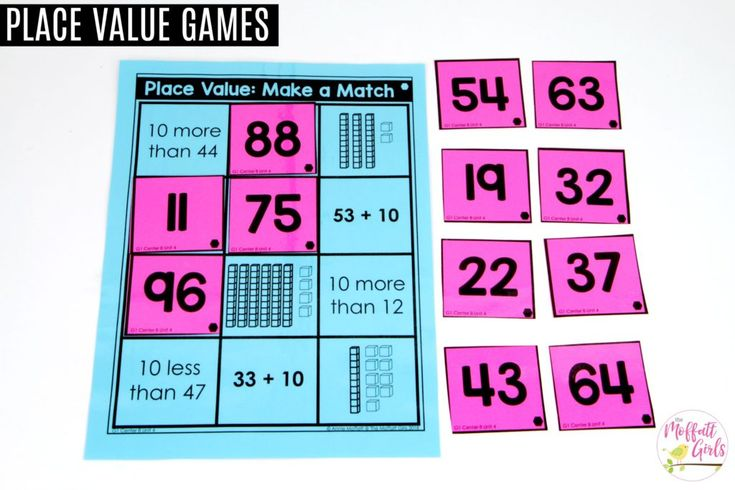 Make a Match: This fun 1st Grade Math activity helps students understand place values and the meaning of a number in a hands-on way!