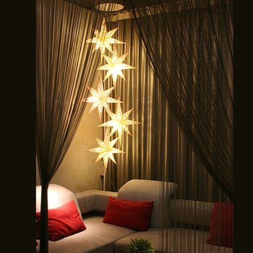bedroom mood lighting. paper star lanterns clustered and staggered gorgeous easy affordable diy home mood lighting bedroom