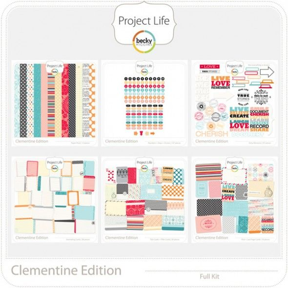 Project life.Crafty Scrapbooking Projects, Projects Life Clementine, Becky Higgins, Scrapbook Photos, Projects Scrapbook, Life Digital, Digital Scrapbook, Digital Project Life, Digital Projects Life