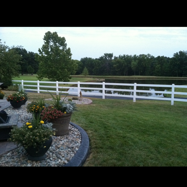 Can't beat the view in my parent's backyard!