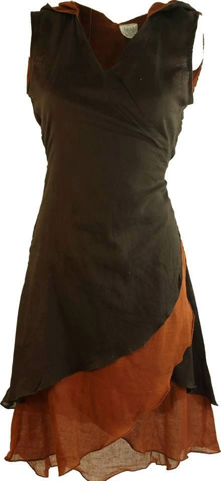 Orange & Black Rustic Dress  Follow me more more Darkly Eclectic Pins