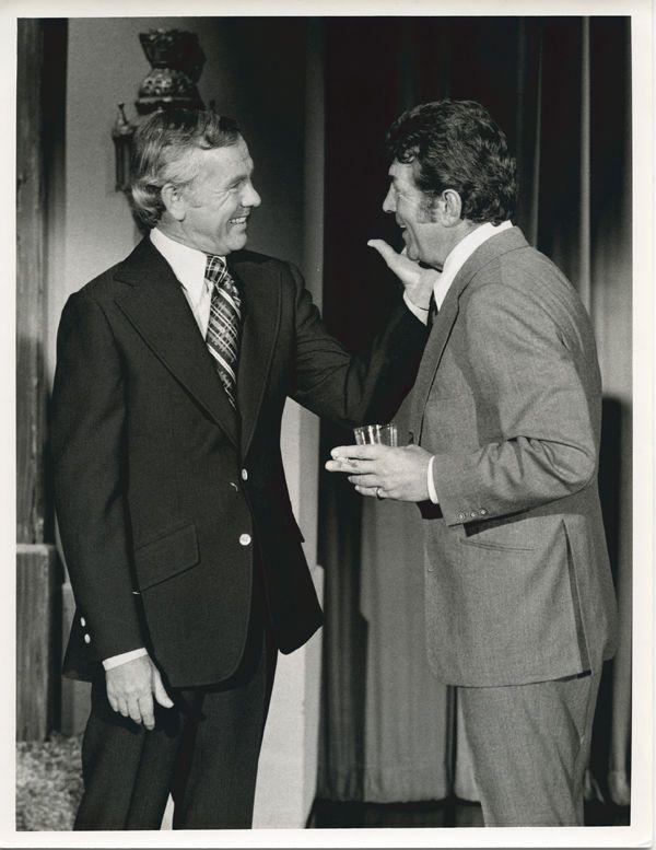 Johnny Carson Dean Martin classic 1970's 7x9 TV photo together