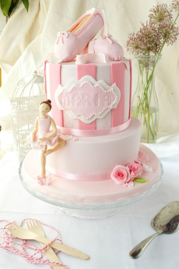 Ballet dancer fondant cake
