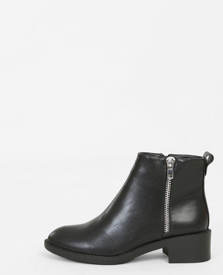 Boots plates zippées