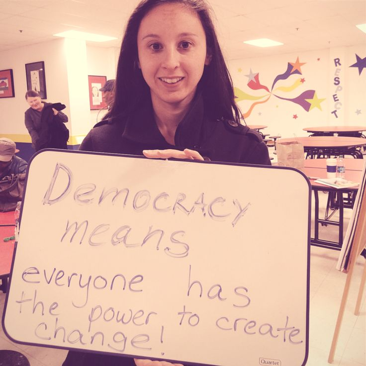 We want to hear from you – what does democracy mean to you?