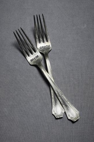 bride & groom forks: Sweetheart Forks, Forks Bhldn, Wedding Gift, Gift Ideas, Wedding Ideas, Weddings, Wedding Cake, Groom Forks, Bride Groom