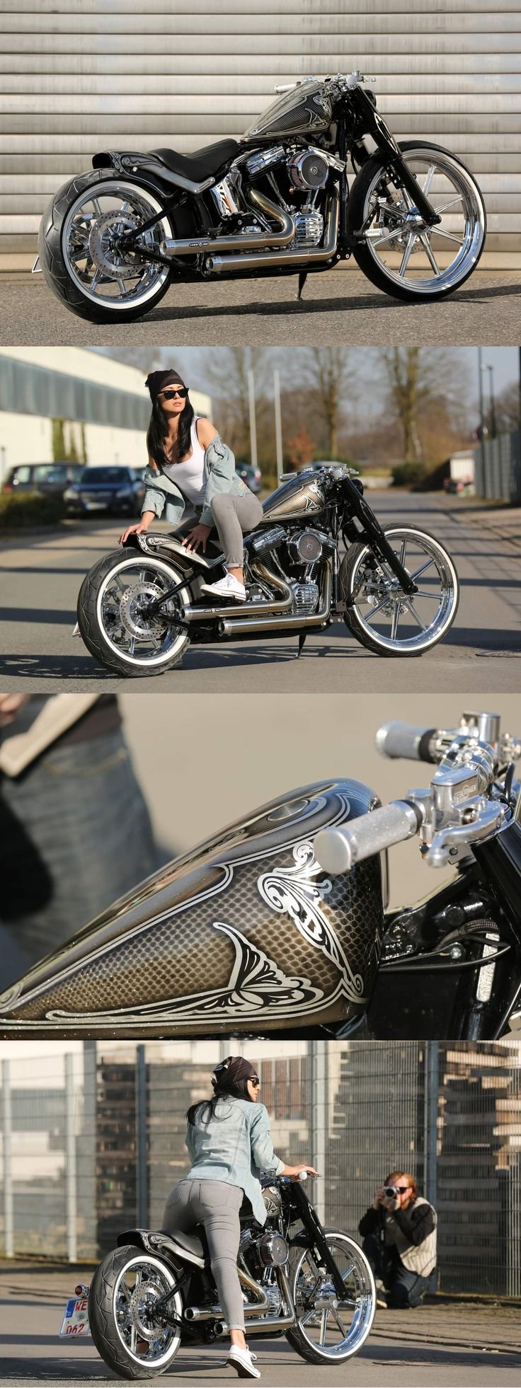 Best Harley Davidson Softail Slim Images On Pinterest Harley - Stickers for motorcycles harley davidsonsharley davidson softail slim peinture gris mat avec patine et