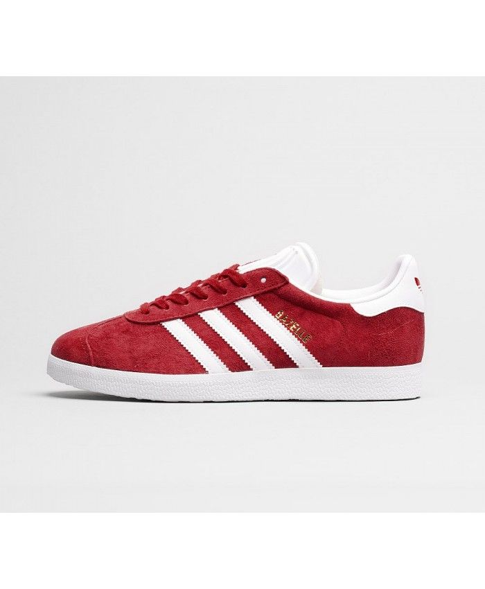 9a7fe9974e9 Adidas Gazelle Womens Trainers In Scarlet White