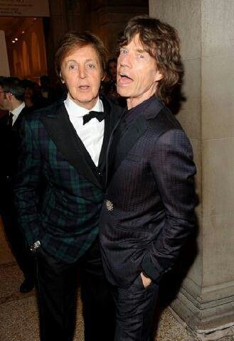 Paul McCartney & Mick Jagger