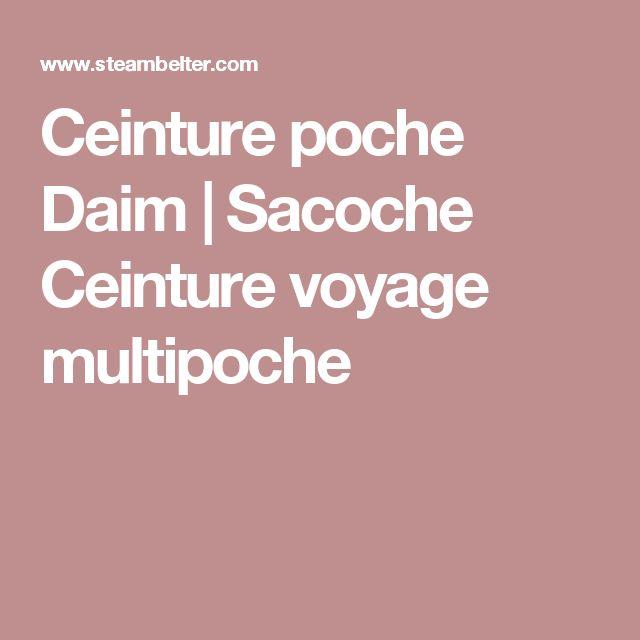 Ceinture poche Daim | Sacoche Ceinture voyage multipoche