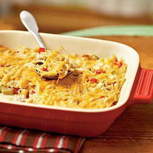 Aunt Liz's Chicken Spaghetti Casserole (Makes two casseroles - 4, 1 cup servings each - 261 calories per cup/serving)