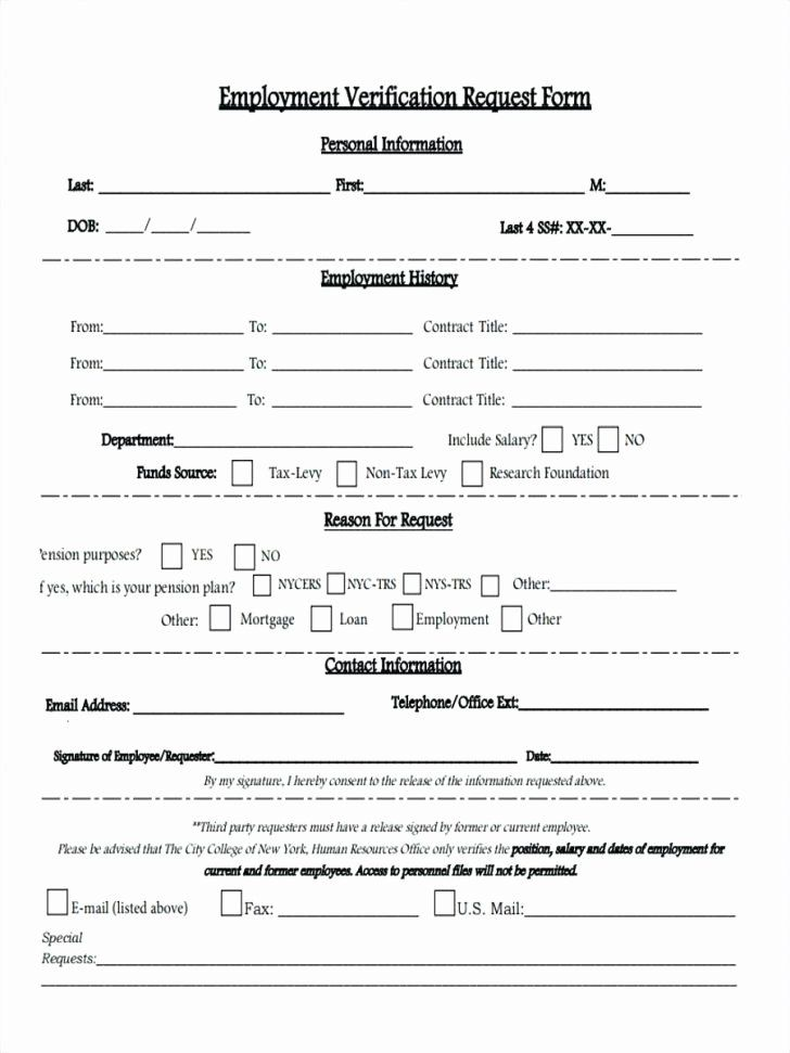 Employment Verification Form Template Awesome Work Experience Form