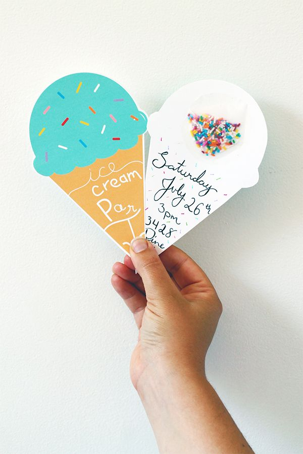 Printable Ice Cream Party Invitations | Squirrelly Minds