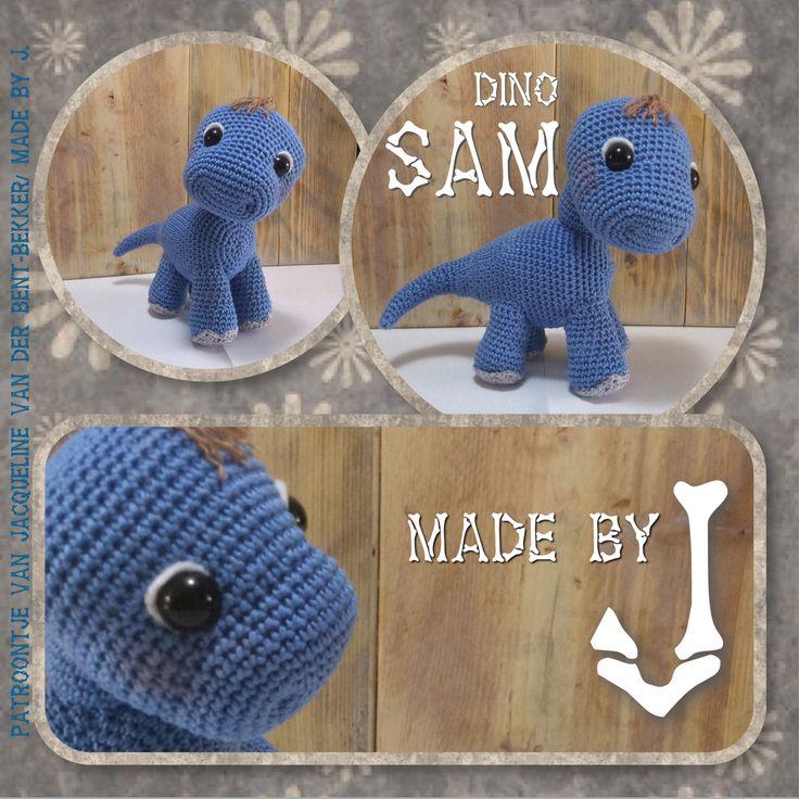 Kleine dino Sam is een haak kooppatroon