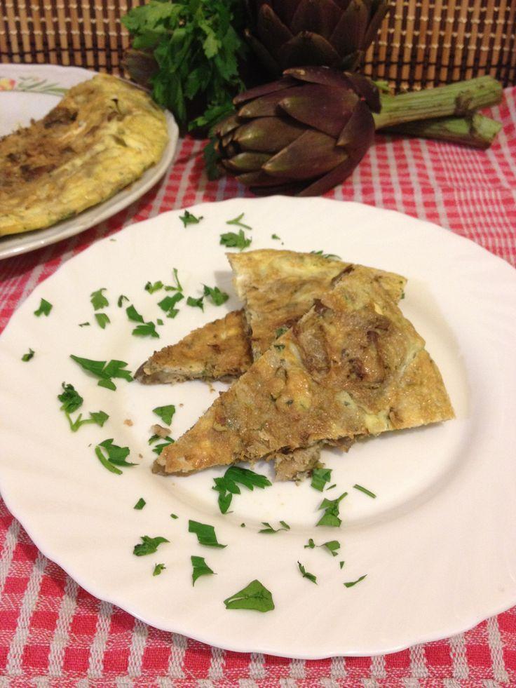 Frittata+con+carciofi+ricetta+facile